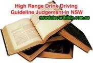 High Range PCA Guideline Judgement NSW